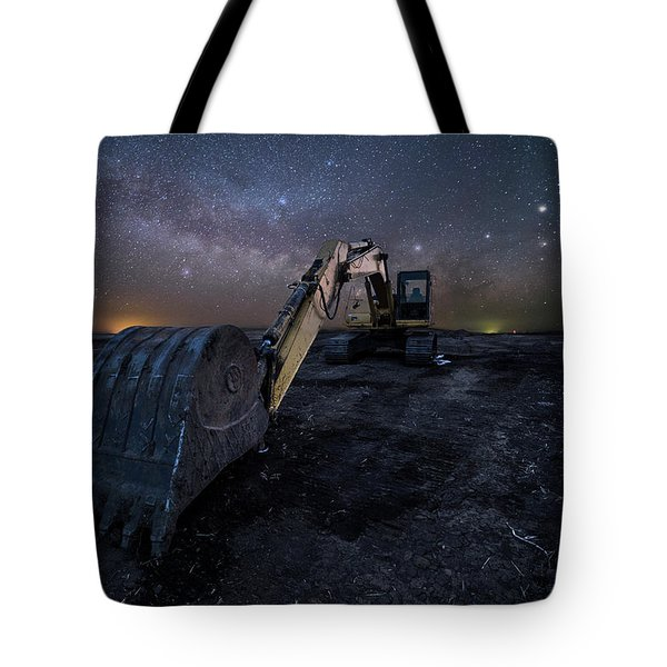 Tote Bag featuring the photograph Space Excavator  by Aaron J Groen