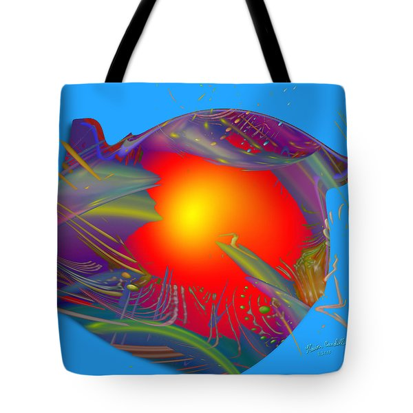 Space Fabric Tote Bag by Kevin Caudill