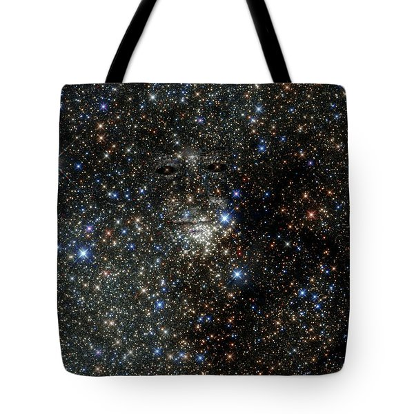Tote Bag featuring the photograph Space Face  by John Norman Stewart