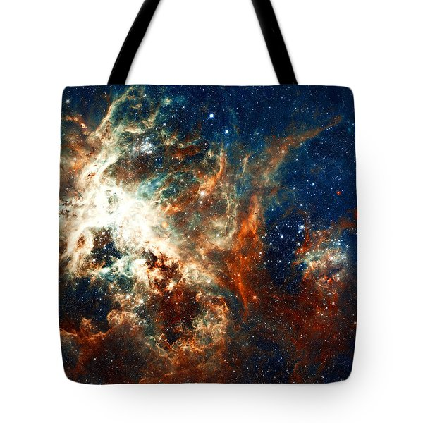 Space Fire Tote Bag by Jennifer Rondinelli Reilly - Fine Art Photography