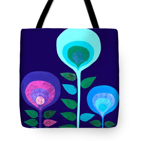 Space Flowers Tote Bag