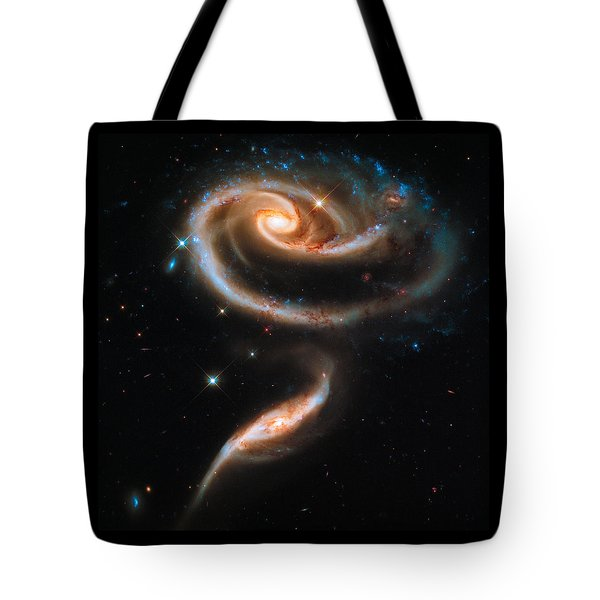 Space Image Galaxy Rose Tote Bag