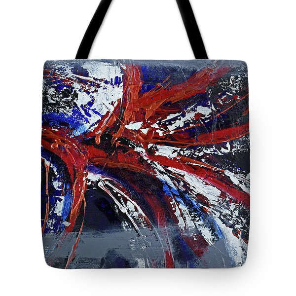 Tote Bag featuring the painting Space Infinity by Walter Fahmy