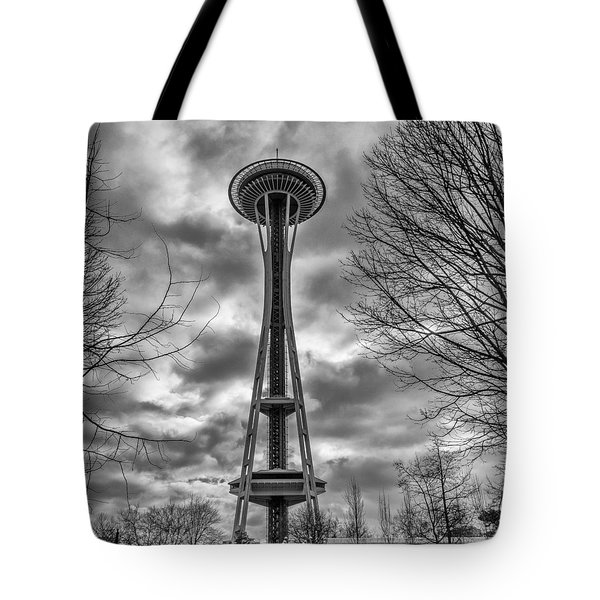 Space Needle Bw Tote Bag