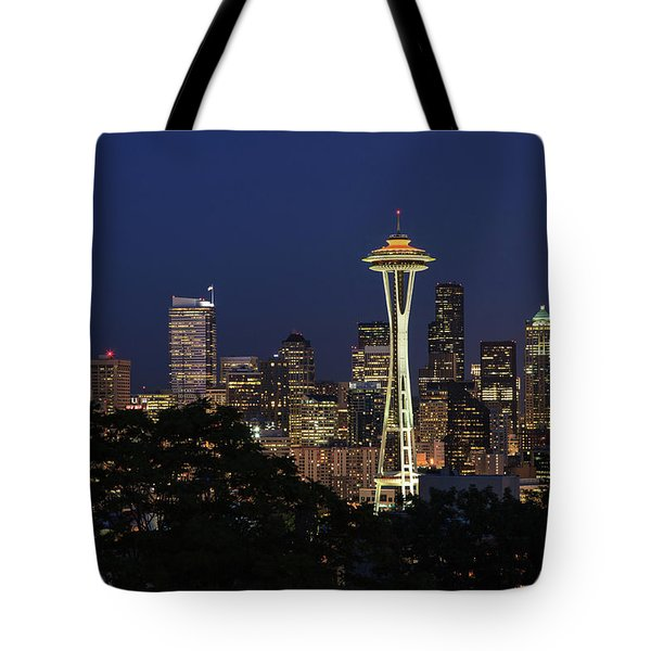 Tote Bag featuring the photograph Space Needle by David Chandler