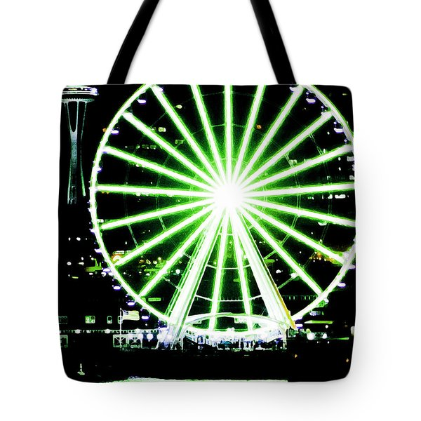 Space Needle Ferris Wheel Tote Bag