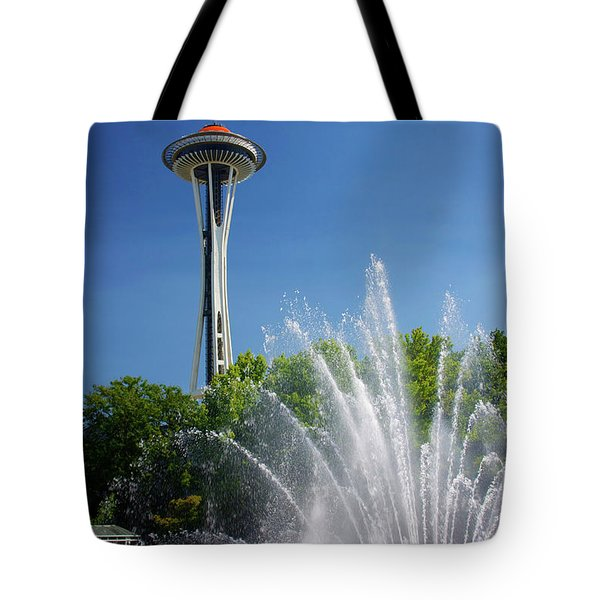 Space Needle In Seattle Tote Bag