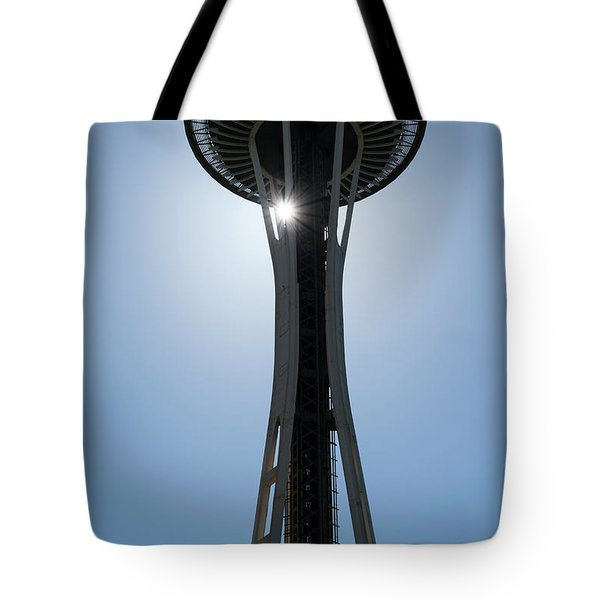 Tote Bag featuring the photograph Space Needle by Michael Hope