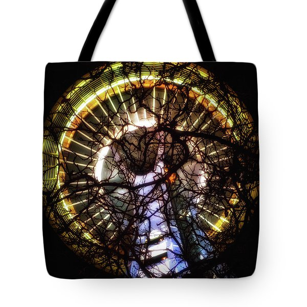 Space Needle Night Tote Bag