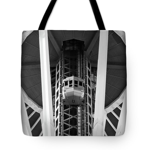 Tote Bag featuring the photograph Space Needle Seattle by Chris Dutton