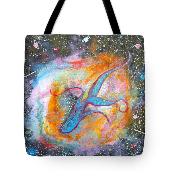 Space Ocean Tote Bag by V Boge