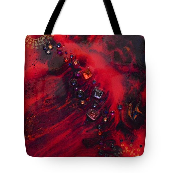 Space Poppies Tote Bag
