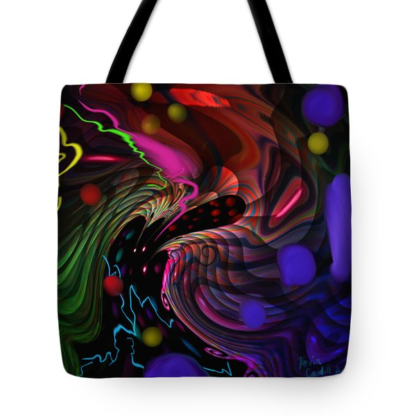 Space Rocks Tote Bag by Kevin Caudill