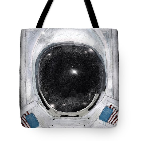 Tote Bag featuring the painting Space Selfie by Bri B