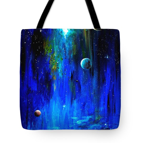 Space Shark Tote Bag by Arturas Slapsys