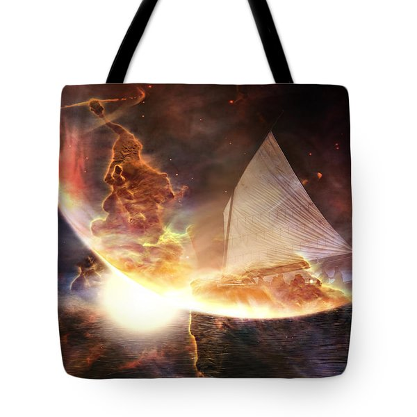 Space Ship Tote Bag