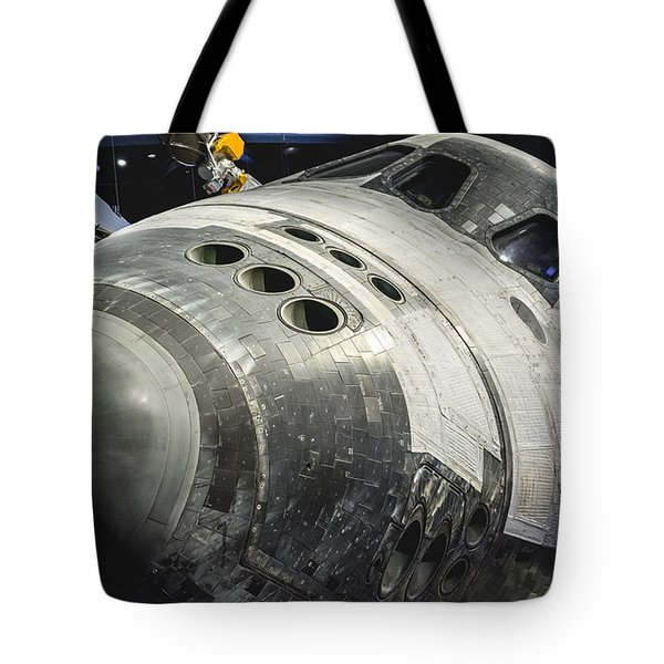 Space Shuttle Atlantis Tote Bag by David Collins
