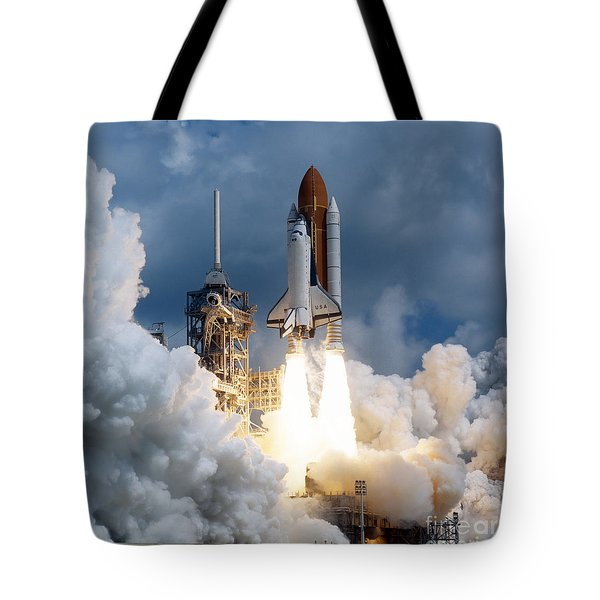Space Shuttle Launching Tote Bag by Stocktrek Images