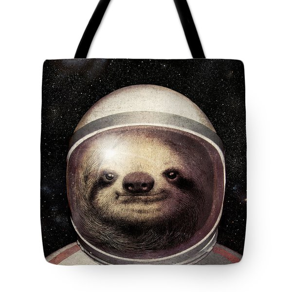 Space Sloth Tote Bag by Eric Fan