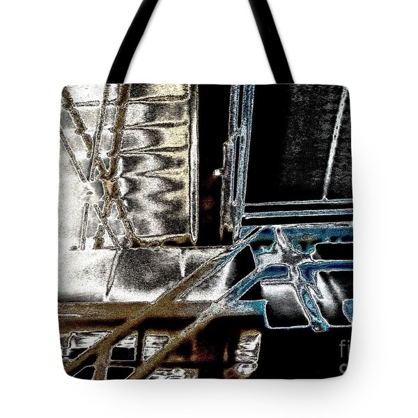 Tote Bag featuring the digital art Space Station by Marsha Heiken