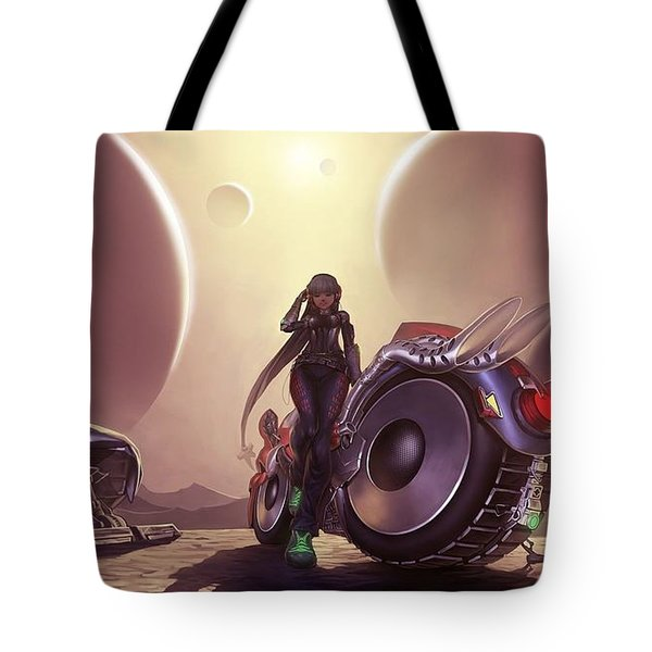Space The Final Frontier Tote Bag by Lawrence Christopher