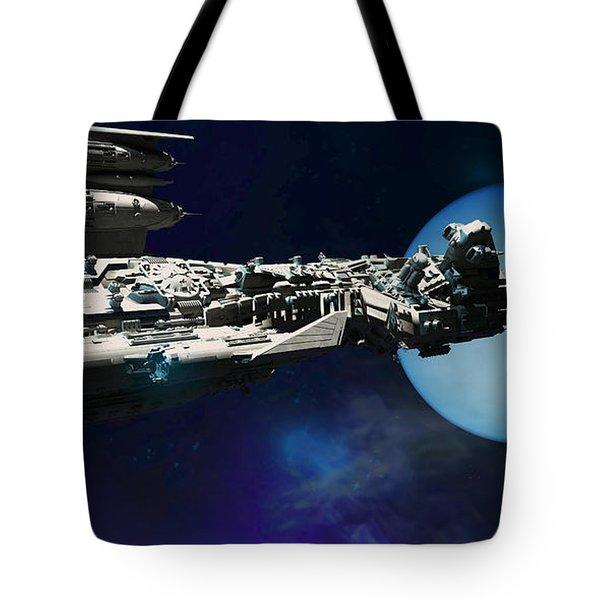 Spaceship To Neptune Tote Bag