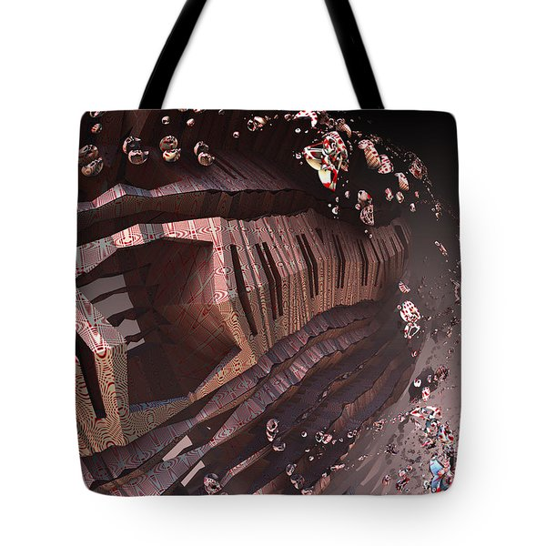 Tote Bag featuring the digital art Spaceship's Airlock by Melissa Messick