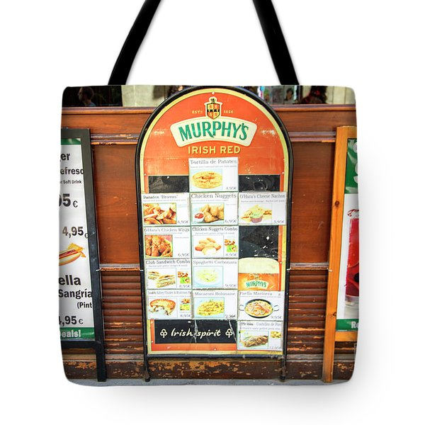 Spain Sangria Murphys Tote Bag