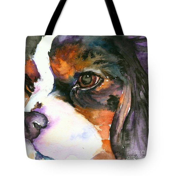 Tote Bag featuring the painting Spaniel by Christy Freeman