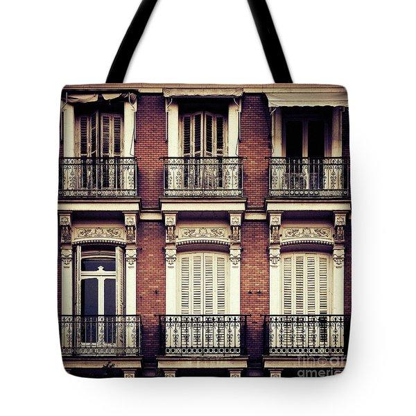 Spanish Balconies Tote Bag