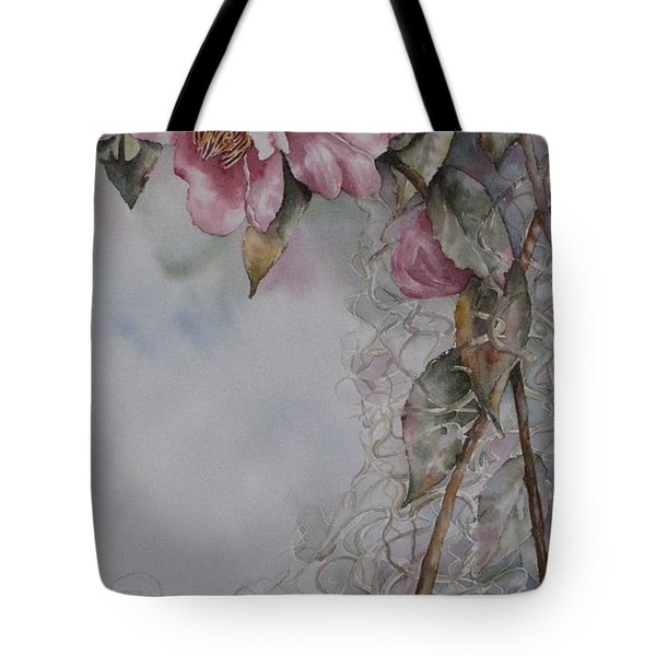 Spanish Camellias Tote Bag by Mary McCullah