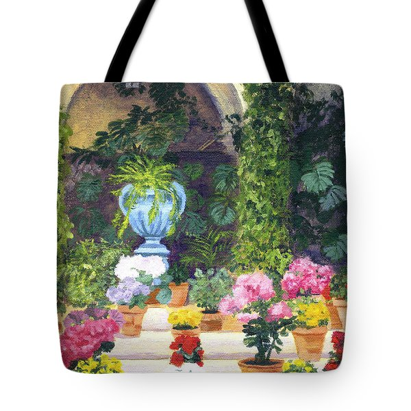 Spanish Courtyard Tote Bag