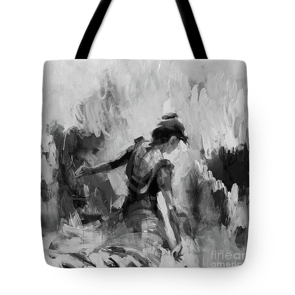 Tote Bag featuring the painting Spanish Dance 7734j by Gull G