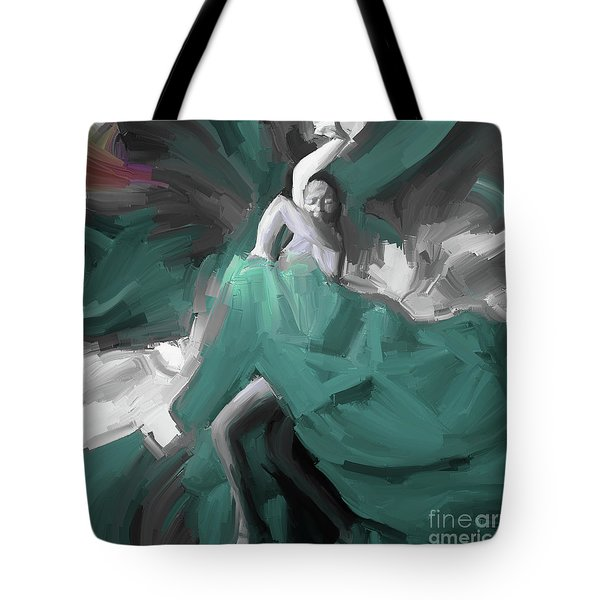 Tote Bag featuring the painting Spanish Dance Art 56yt by Gull G