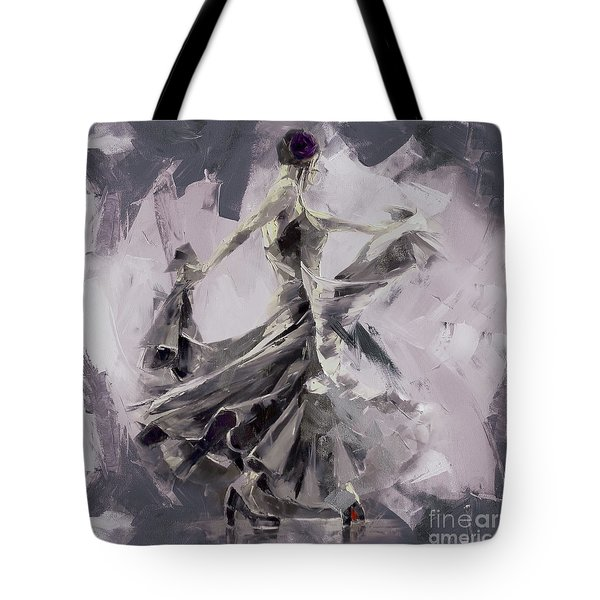 Tote Bag featuring the painting Spanish Dance Painting 03 by Gull G