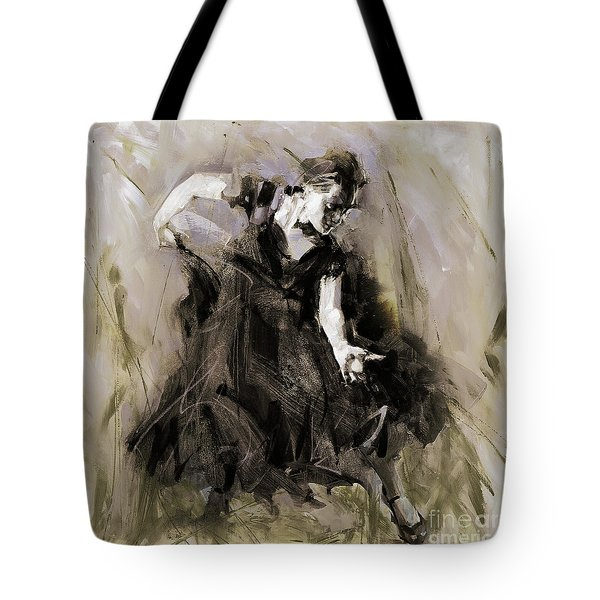 Tote Bag featuring the painting Spanish Dancer 3400i by Gull G