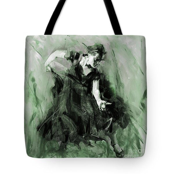 Tote Bag featuring the painting Spanish Flamenco Dancer by Gull G