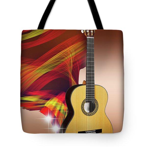 Spanish Guitar Tote Bag