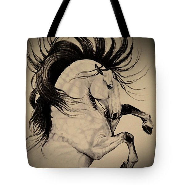 Spanish Horses Tote Bag