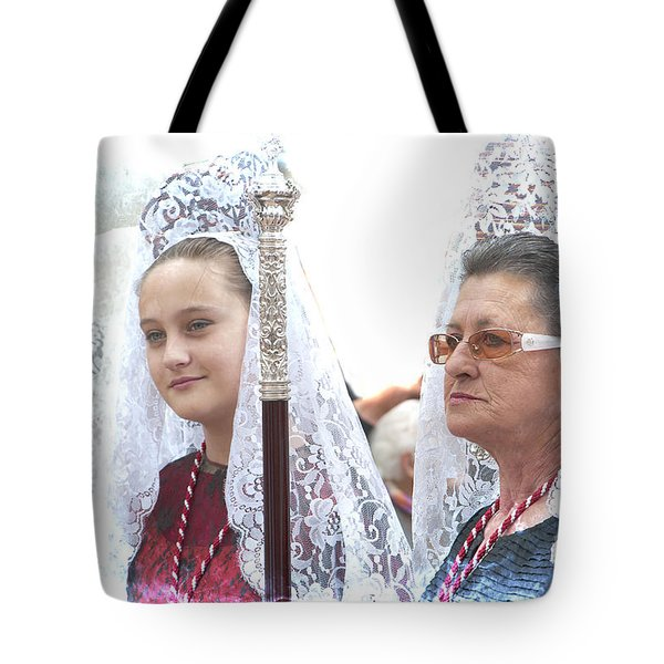Spanish Ladies In Their Mantillas Tote Bag