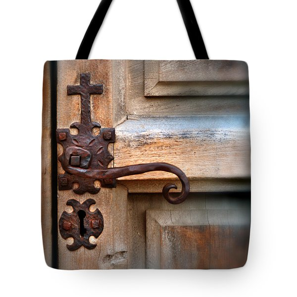 Spanish Mission Door Handle Tote Bag by Jill Battaglia