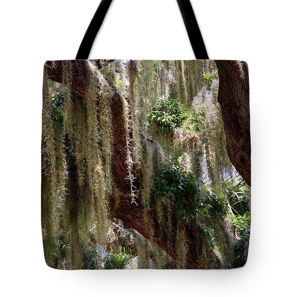Spanish Moss Cascade Tote Bag