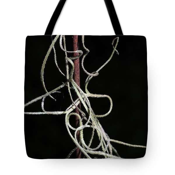 Tote Bag featuring the photograph Spanish Moss On Wire by Richard Rizzo