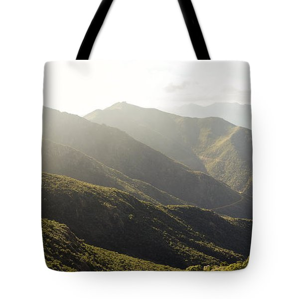 spanish mountain range, Malaga, Andalusia, Tote Bag by Perry Van Munster