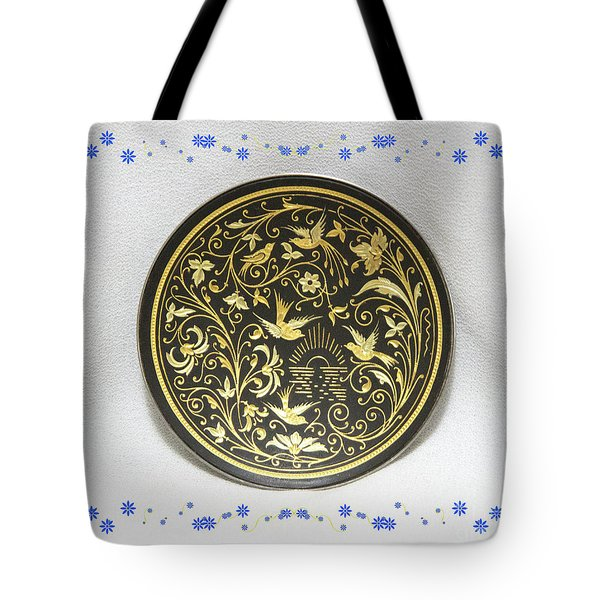 Tote Bag featuring the photograph Spanish Plaque by Linda Phelps