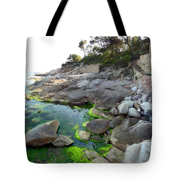 Spanish Seascape Tote Bag by Gregory Dyer