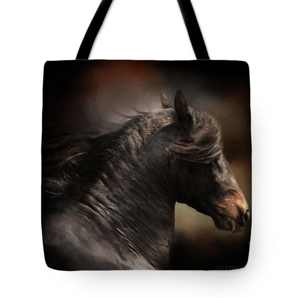Spanish Stallion Tote Bag by Kathy Russell