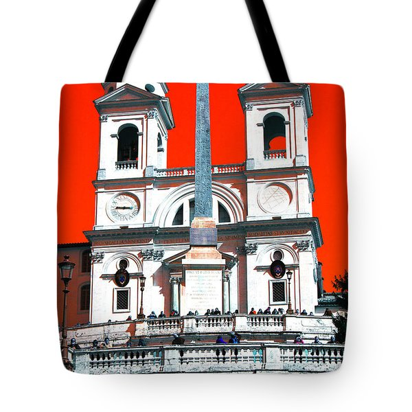 Spanish Steps Pop Art 2011 Tote Bag