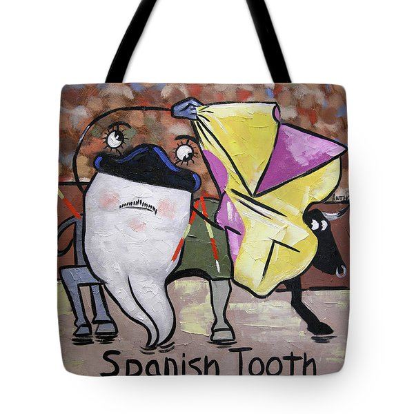 Spanish Tooth Tote Bag by Anthony Falbo