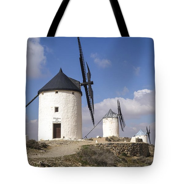 Spanish Windmills In The Province Of Toledo, Tote Bag